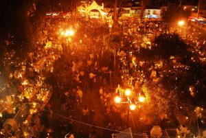 Celebración del día de los muertos en San Andrés de Mixquic