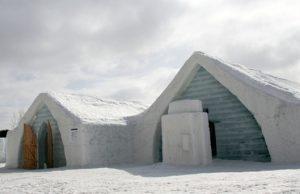 Hotel de hielo para turistas que no sufren del frío
