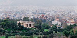 Acrópolis de Atenas, en Grecia.