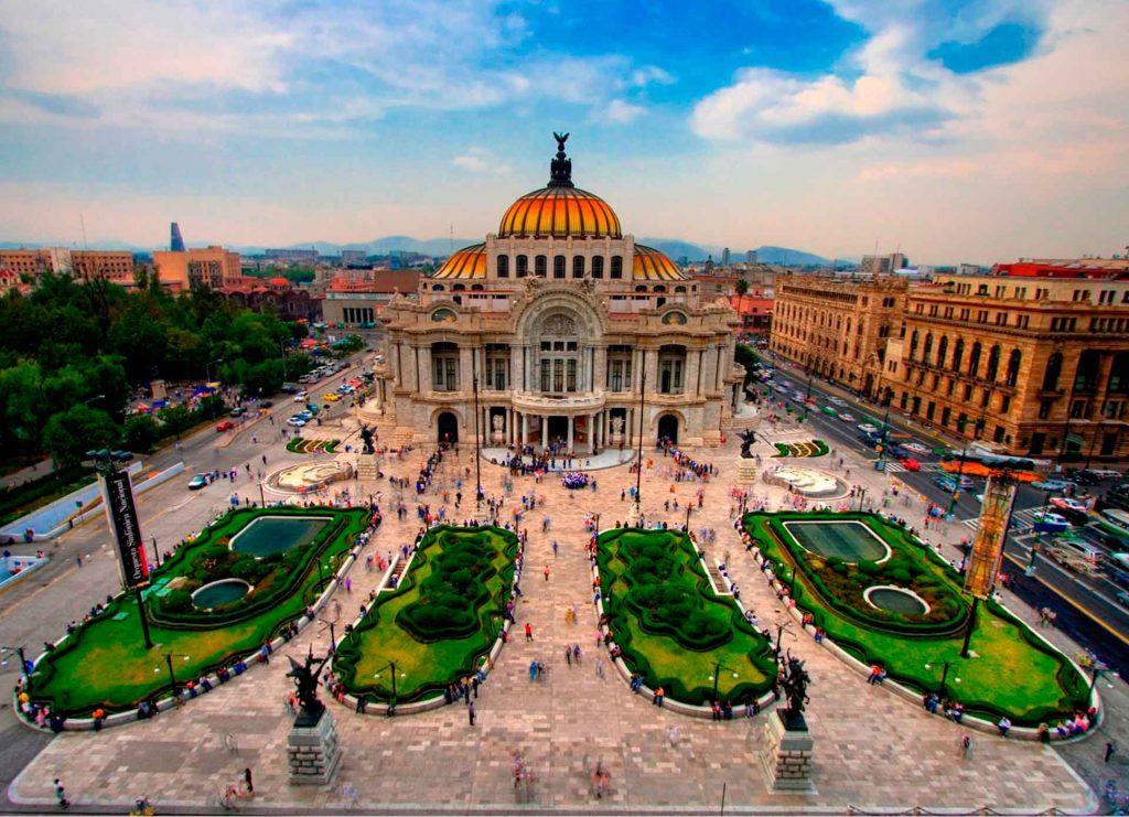 La turística Ciudad de México.