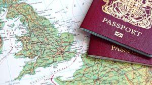 Pasaporte para viajar a Italia.