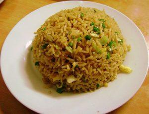 Plato de arroz chaufa