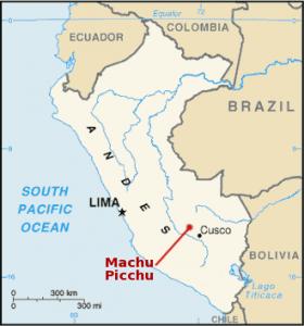Machu Picchu ubicacion en el mapa