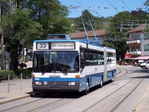 Autobuses en Zúrich.