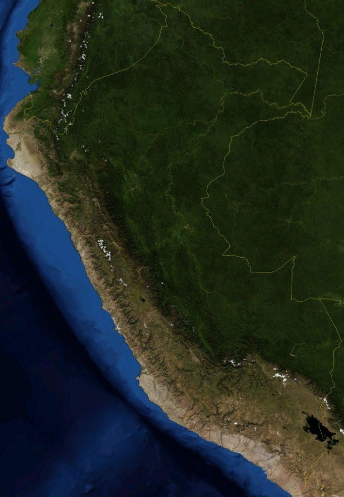 imagen satelital de Perú
