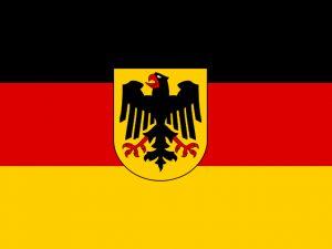 bandera alemana con escudo