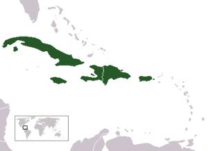 Antillas Mayores ubicación