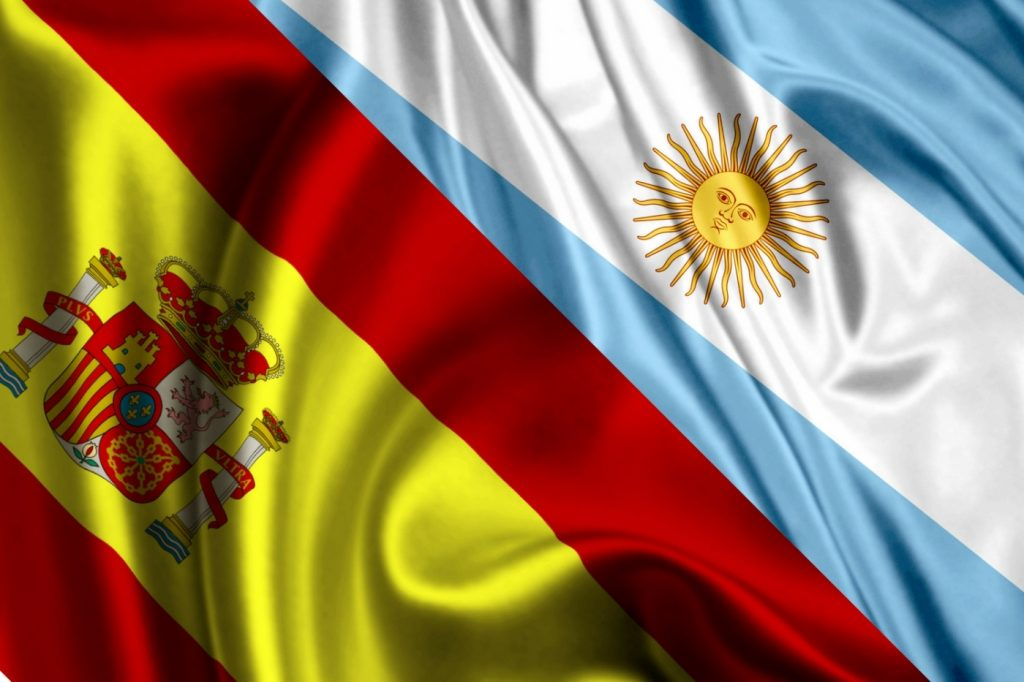 banderas unidas – argentina y españa