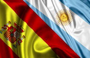 banderas unidas - argentina y españa