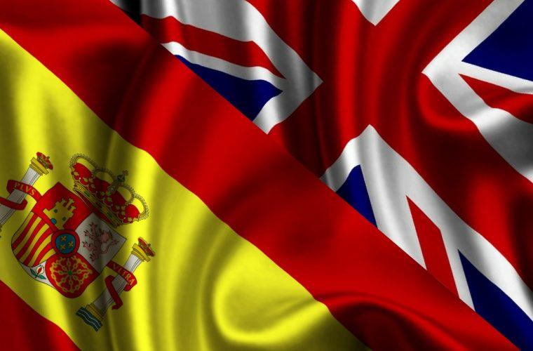 banderas unidas - inglaterra y españa