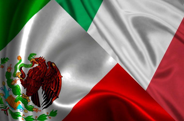 banderas unidas - Italia y México