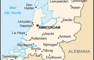 Mapa de Holanda