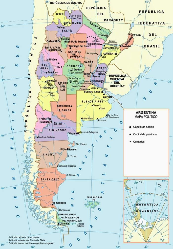 Mapa de Argentina   Turismo.org