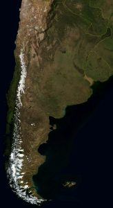 Mapa satelital de Argentina