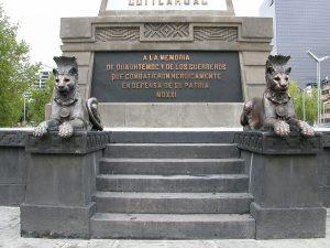 Monumento a Cuauhtémoc inscipción