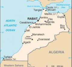 Marruecos mapa pequeño