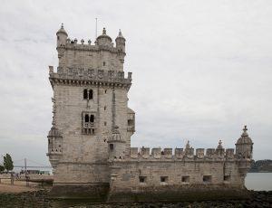 Exterior de la Torre de Belém en Lisboa.