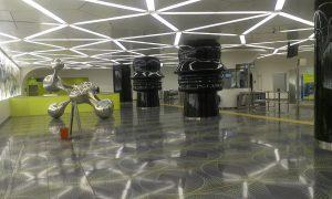 Estación Universidad del metro en Nápoles