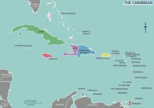 Mapa de El Caribe
