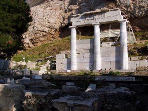 Restos del santuario de Asclepeión