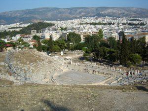 Teatro de Dioniso, bajo la Acrópolis de Atenas