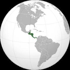 Ubicación de América Central