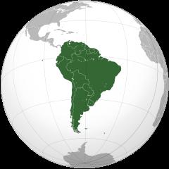 Ubicación de América del Sur