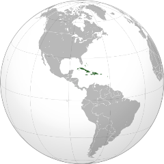 Ubicación de el Caribe