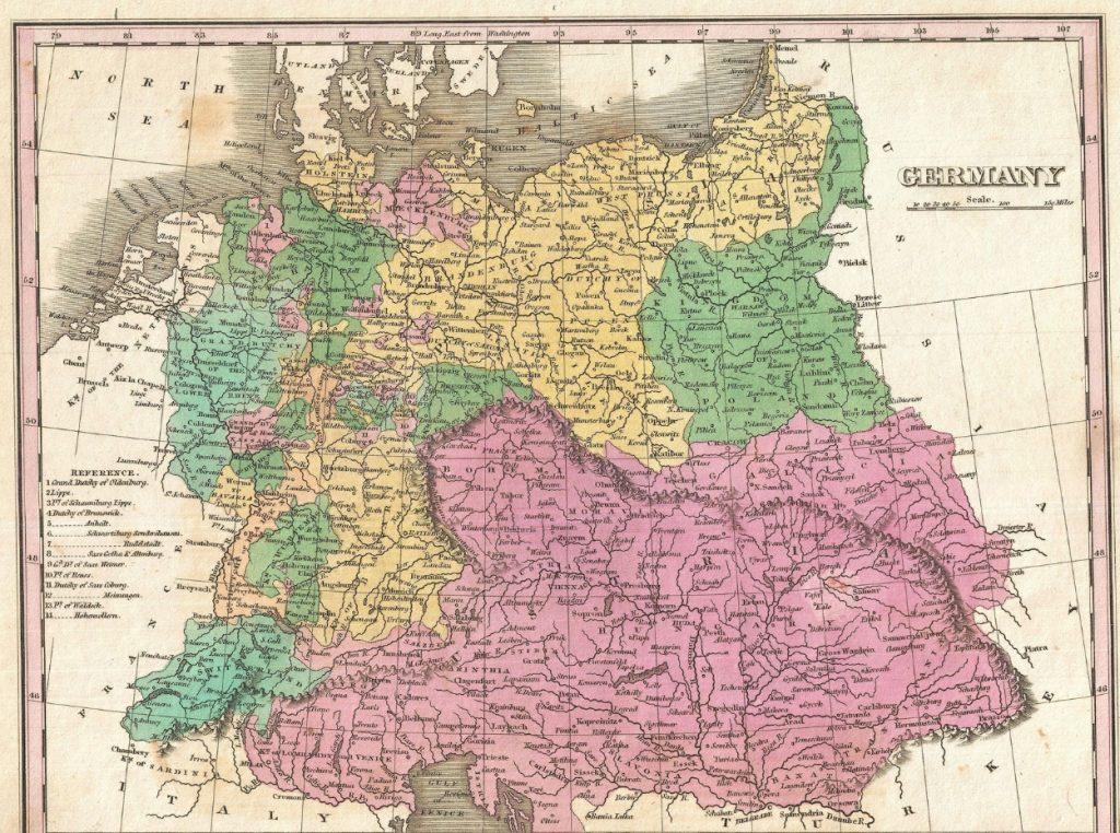 Mapa de Alemania antes de la segunda guerra mundial
