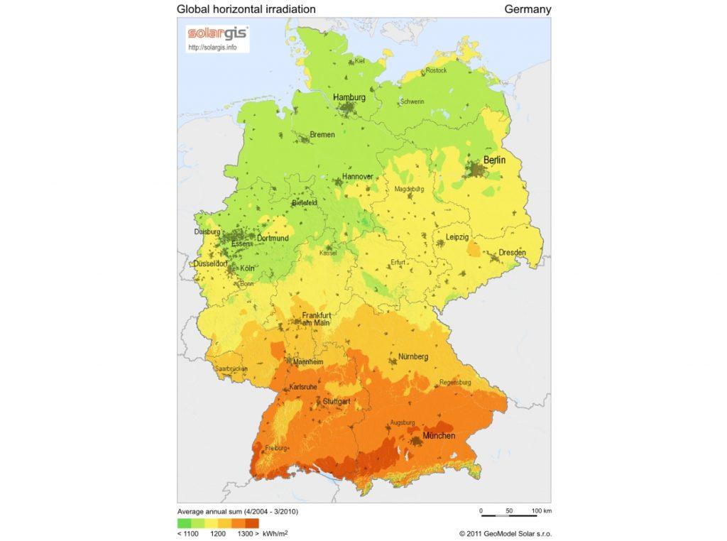 Mapa climático de Alemania