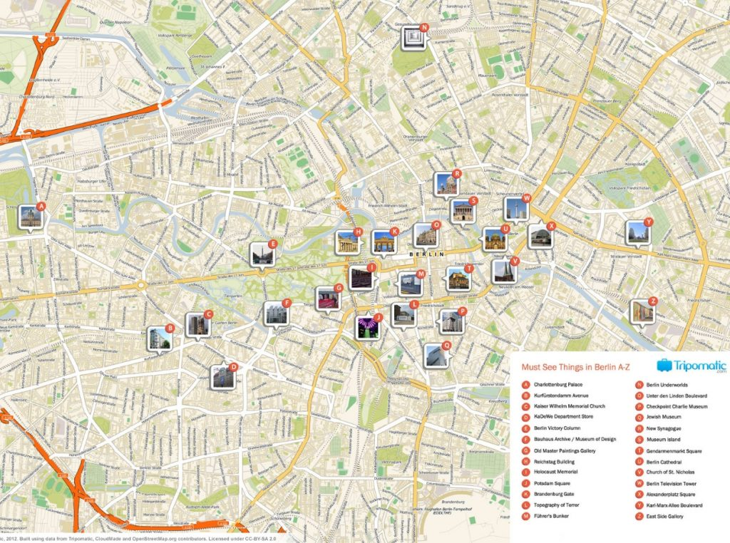 Mapa turístico de Berlín