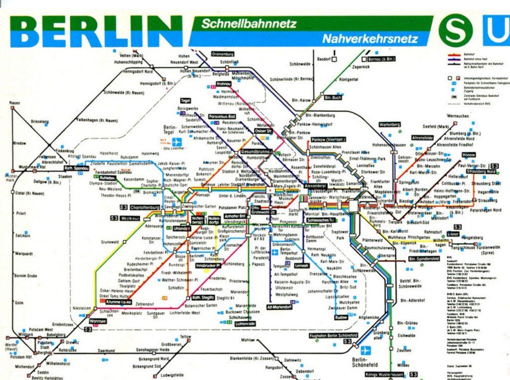 Mapa metropolitano de Berlín