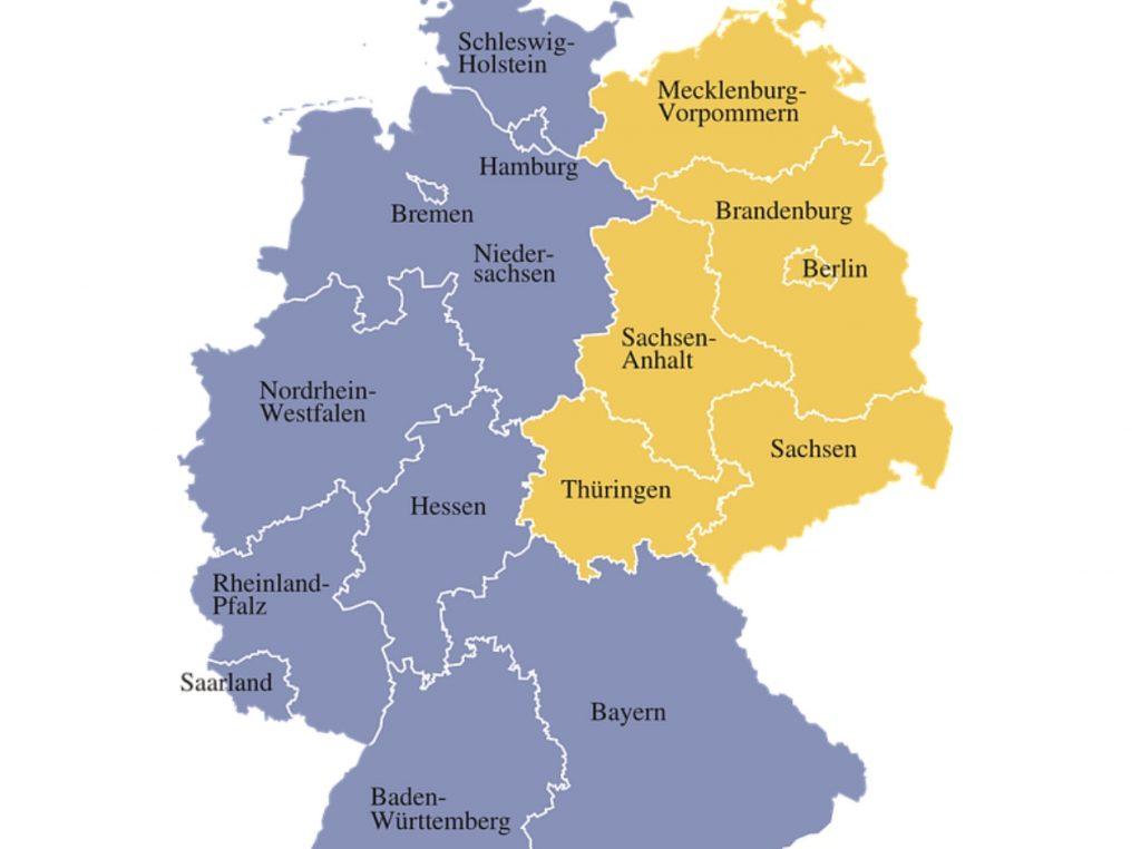 Mapa de regiones de Alemania