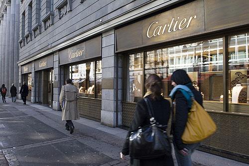 Comprando en la calles de Zúrich