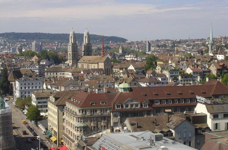 Vista panorámica de la ciudad de Zúrich