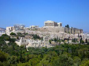 Vista general del Acrópolis de Atenas