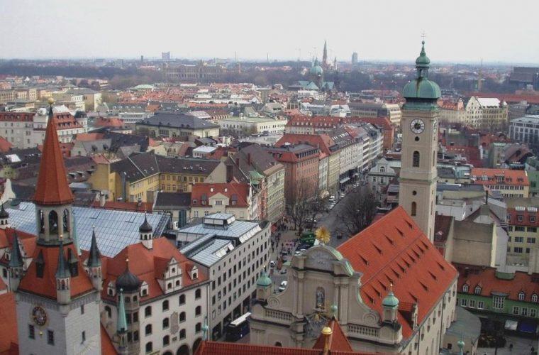 Vista aérea de la ciudad de Múnich