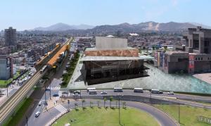 (Der. a Izq.) Museo de la Nación, Teatro Nacional y La Biblioteca de Lima