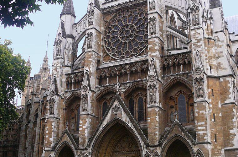 Fachada norte de la abadía de Westminster