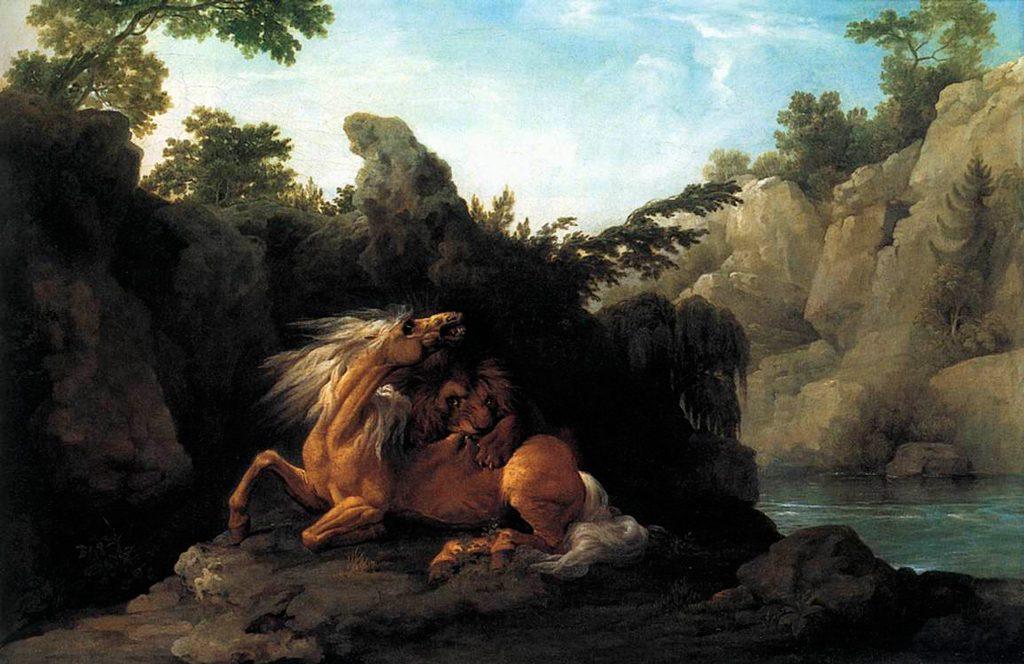 Caballo atacado por un león, George Stubbs