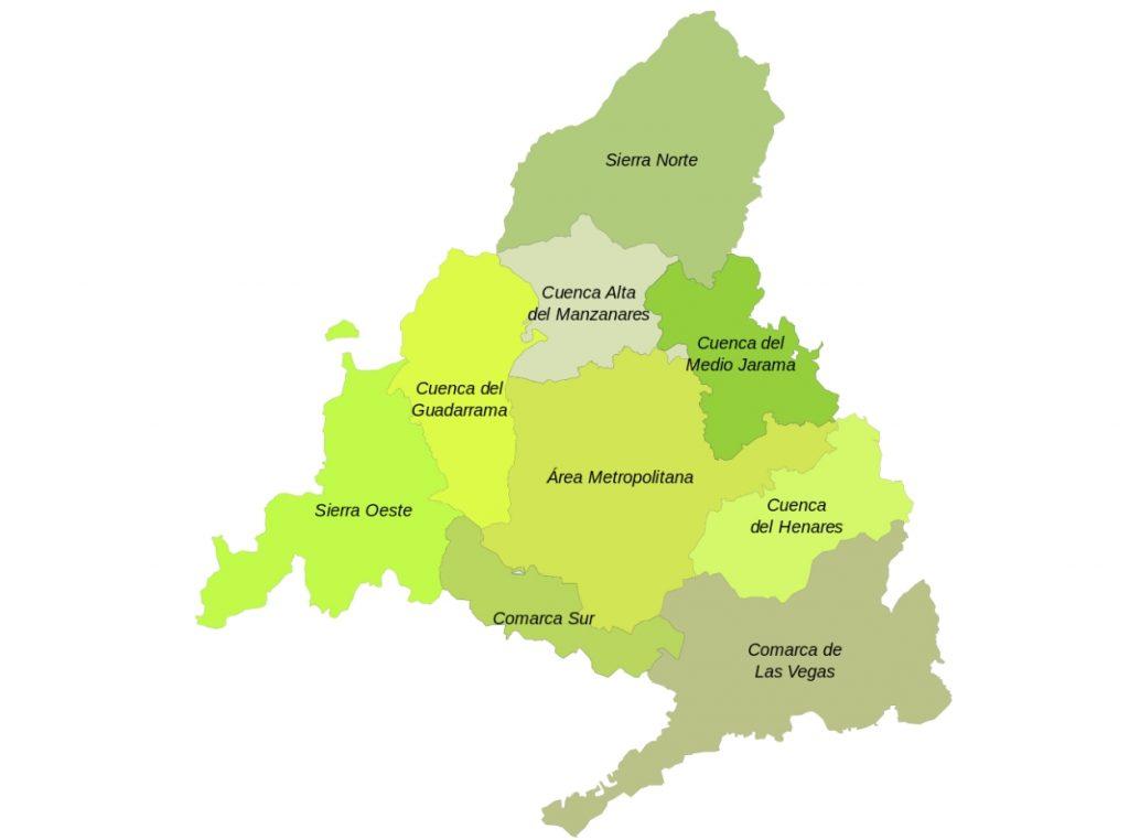 Mapa de distritos de Madrid