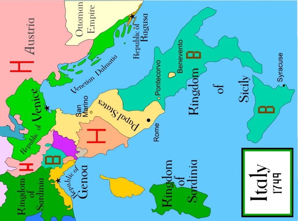2a mapa politico 1749