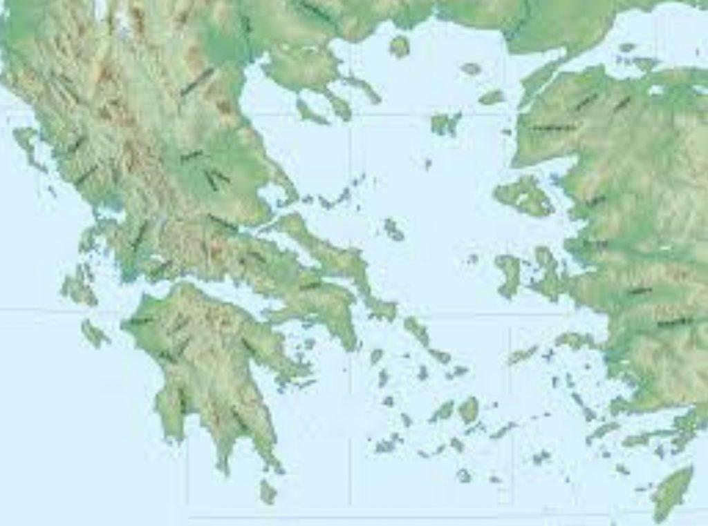 Mapa hidrográfico de Grecia