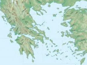 mapa de grecia santorini