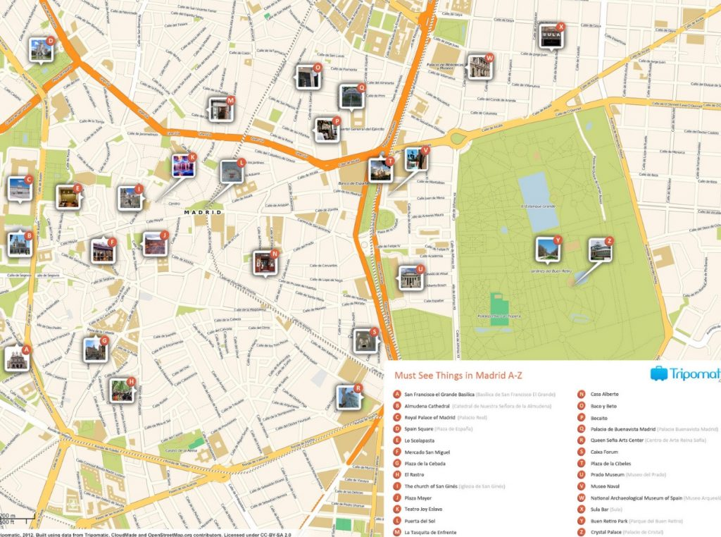 Mapa Turistico De Madrid.Mapa De Madrid Mapa Turistico Y Guia Util De La Ciudad De