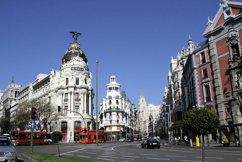 Calle de Alcalá (vista panorámica) - autor