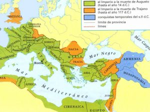 mapa de roma antigua en español