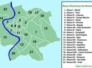 mapa de roma para imprimir