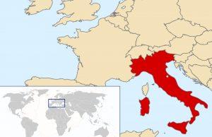mapa de italia para imprimir