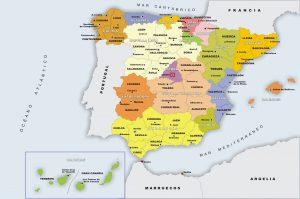 Mapa de comunidades autónomas de España